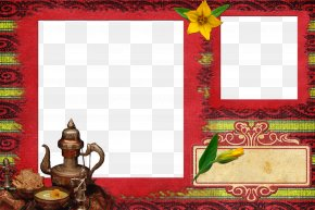 Red Frame Border Retro Pattern - Picture Frame Red Pattern PNG