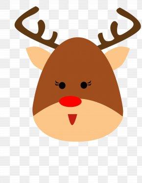 Reindeer - Reindeer Santa Claus Christmas Horn PNG
