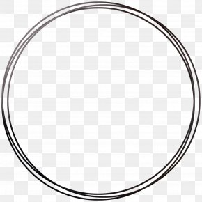 Round Frame - Circle Area Angle Point Black And White PNG