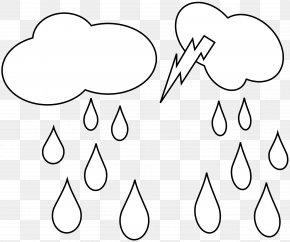 Rain Cloud - Coloring Book Rain Dozhd Drop Umbrella PNG
