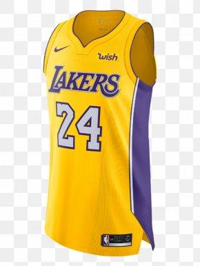 T-shirt - Los Angeles Lakers T-shirt Sports Fan Jersey Sleeveless Shirt Sweater PNG