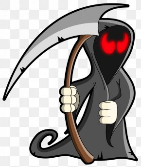 Halloween Grim Reaper Large Clipart - Death Icon Computer File PNG