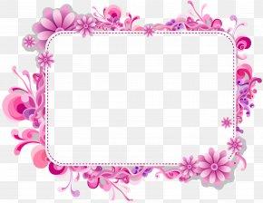 Mothers Day Border Frame - Clip Art Image Desktop Wallpaper Vector Graphics PNG