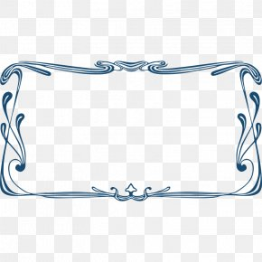 Border Modern - Borders And Frames Art Nouveau Ornament Clip Art Vector Graphics PNG
