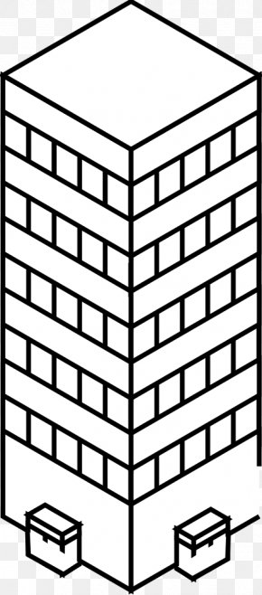 Black And White City - Clip Art Black And White Skyscraper Vector Graphics Drawing PNG