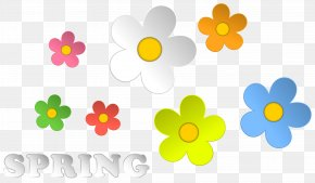 Spring And Flowers Decor Clipart - Flower Clip Art PNG