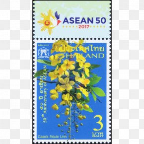 Cassia Fistula - Thai Philatelic Museum Postage Stamps Stamp Collecting Mail World Post Day PNG