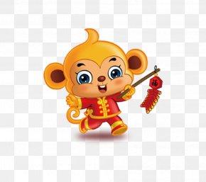 Cartoon Monkey - Monkey Chinese Zodiac Chinese New Year Download PNG