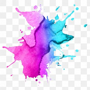 Purple Paint - Watercolor Painting Drawing Royalty-free PNG