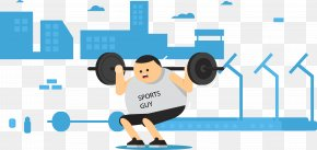 Vector Little Man Weightlifting - Olympic Weightlifting Physical Fitness PNG