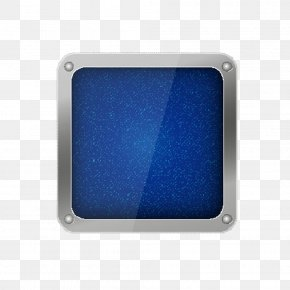 Crystal Android Download Button Background - Rectangle Cobalt Blue PNG
