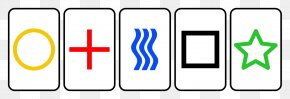 Deck Of Card Symbols - Zener Cards Playing Card Extrasensory Perception Psychic Parapsychology PNG