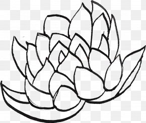 Line Drawing Lotus - Line Art Drawing Clip Art PNG
