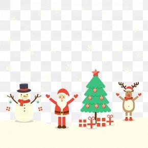 Vector Santa Claus - Christmas Tree Santa Claus PNG