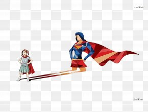 Creative Color Posters Heroes - Superhero Child Art Illustration PNG