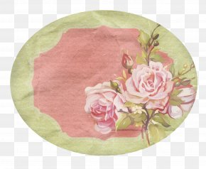 Rose Label Collection - Paper Label Sticker Garden Roses PNG