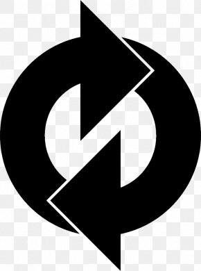 Blackandwhite Logo - Reuse Arrow PNG