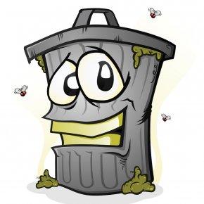 Trash Can - Rubbish Bins & Waste Paper Baskets Cartoon Royalty-free PNG