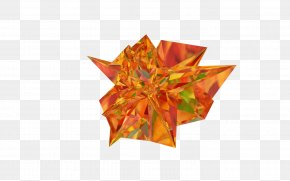 Low Poly - Origami Paper Low Poly Video Overlay PNG