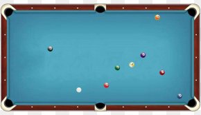 Blue Billiard Table Top View Material - Billiard Table Pool Billiards Rack PNG