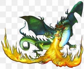 Firebreathing Dragon - Dragon Fire Breathing Clip Art PNG
