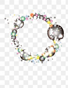 Garland Bubbles Composition - Circle Body Piercing Jewellery Human Body Pattern PNG
