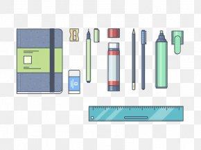 Stationery Design Graphics - Eraser Pen Illustration PNG