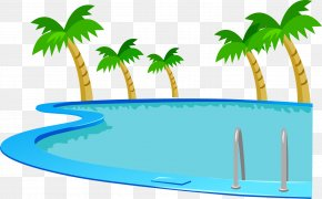 Vector Painted Swimming Pool - Swimming Pool Clip Art PNG