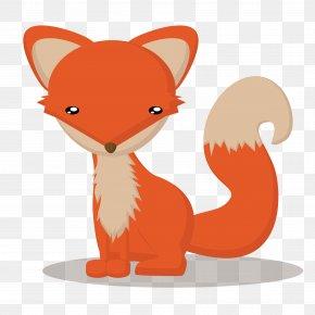 Vector Fox - Red Fox Cartoon Animals Card Cartoon Fox Touch Animal : Preschool Game PNG