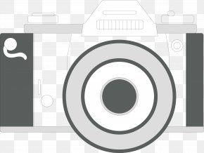 Black And White Camera Vector - Black And White Camera PNG