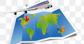 Travel - Air Travel Clip Art PNG