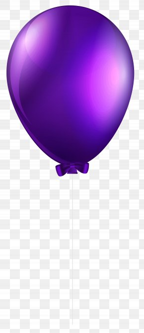 Purple Balloon Transparent Clip Art Image - Balloon Purple Clip Art PNG