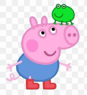 Pig Cartoon Characters - Daddy Pig Mummy Pig George Pig Clip Art PNG