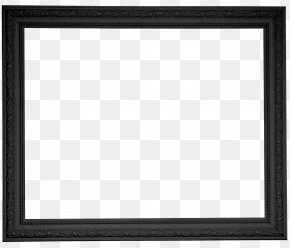 Creative Black Frame - Black And White Chessboard Square Pattern PNG
