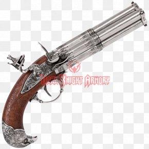 Wood Barrel - Trigger Flintlock Revolver Firearm Pistol PNG