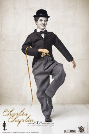Charlie Chaplin - The Tramp Action & Toy Figures Comedian Film 1:6 Scale Modeling PNG