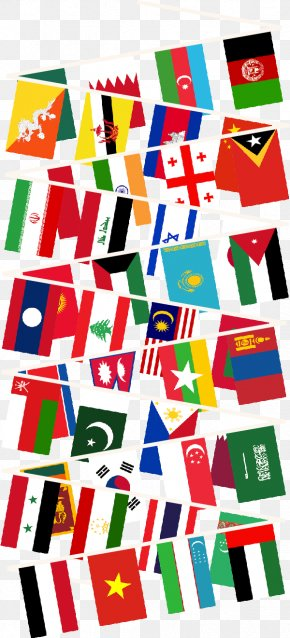 Flag - Bunting Flags Of Asia World Flag PNG