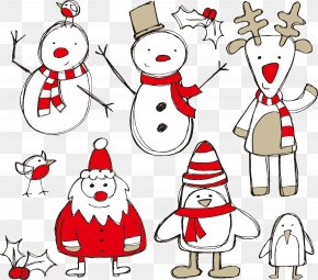 Santa Claus And Snowman - Santa Claus Christmas Tree Christmas Decoration Clip Art PNG