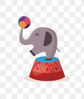 Circus Elephant - Circus Photography Illustration PNG