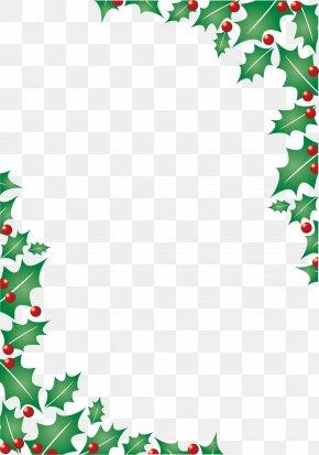 Christmas Leaves Border - Christmas Icon PNG