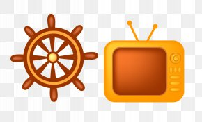 Cartoon TV - Car Ships Wheel Clip Art PNG