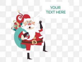 Vector Santa Claus - Santa Claus Reindeer Christmas PNG