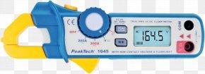 Measuring Instrument - Current Clamp Voltage Measuring Instrument Multimeter Electric Current PNG