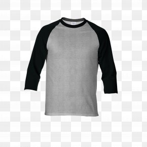 COTTON - Long-sleeved T-shirt Gildan Activewear Raglan Sleeve PNG