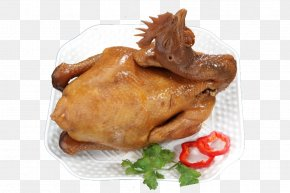 On The Plate Of Roast Chicken - Roast Chicken Red Cooking Chinese Cuisine Barbecue Chicken PNG