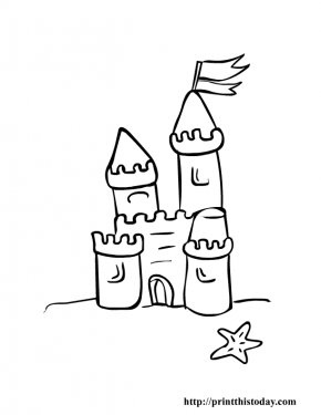 Pictures Of Castles For Children - Coloring Book Sand Art And Play Drawing Clip Art PNG