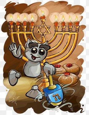 Judaism - Hanukkah Judaism Menorah Art Dreidel PNG