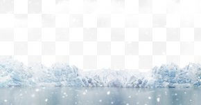 Snow Falling On The Ice - Ice Snow White Wallpaper PNG