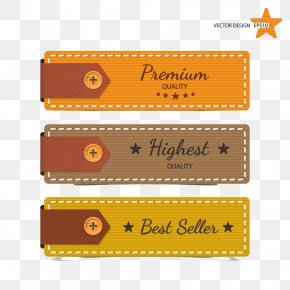 Yellow Button Icon High-definition Buckle Material - Label Textile Icon PNG