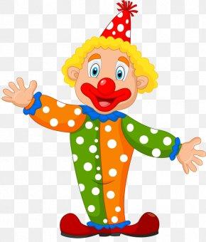 Clown Show - Clown Cartoon Circus Illustration PNG